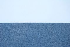 Wall plaster texture in two different tones of blue color Royalty Free Stock Photography
