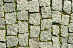 Wall plastered with a stone close up Stock Photos
