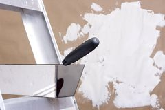 Wall plastering Royalty Free Stock Photos