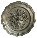 Wall plate with the coat of arms Royalty Free Stock Photography