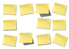 Wall of post it. Some different post it to write it on some memo Royalty Free Stock Photos
