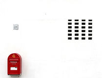 Wall with post box Royalty Free Stock Photography