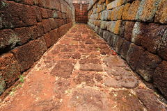 The Wall of Prasat Hin Phanom Rung castle Royalty Free Stock Photos