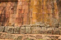 The Wall of Prasat Hin Phanom Rung castle Stock Image