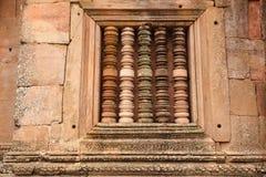 The Wall of Prasat Hin Phanom Rung castle Stock Photos