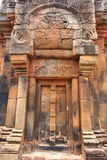 The Wall of Prasat Hin Phanom Rung castle Stock Images