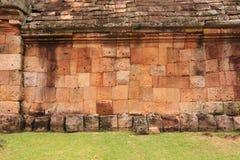 The Wall of Prasat Hin Phanom Rung castle Royalty Free Stock Photo