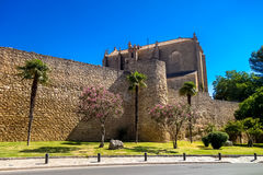 Wall of the Puerta de Almocábar Royalty Free Stock Photo