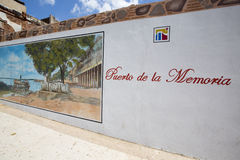 Wall of Puerto de la Memoria in Ciudad Bolivar Stock Images