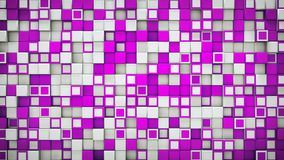 Wall of purple and white 3D boxes abstract background. Wall of purple and white boxes. Abstract background. 3D rendering royalty free illustration