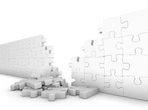 Wall of puzzle Stock Images