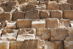 Wall of pyramid Stock Images