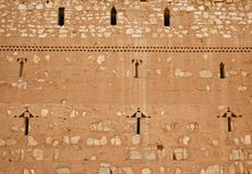 Wall of Qasr al Kharanah, Jordan Royalty Free Stock Photo