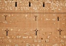 Wall of Qasr al Kharanah, Jordan Royalty Free Stock Photo