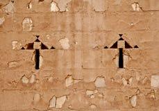 Wall of Qasr al Kharanah, Jordan Stock Photography