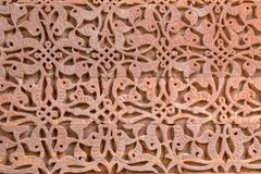 Ancient qutub minar wall pattern stock photo