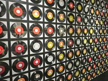 Wall of Records. Records on the wall Royalty Free Stock Images