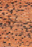 Wall of red and black bricks Royalty Free Stock Photography
