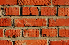 Wall from red brick Royalty Free Stock Photos