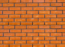 Wall from a red brick Stock Photo