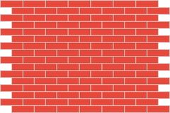 Wall red brick. Background. Wall from a red brick. A background. A vector illustration Stock Images
