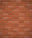 Wall of red brick seamless background Royalty Free Stock Images