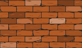 Wall of red brick seamless background. vector Stock Photos