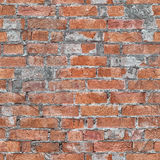 Wall of red brick seamless pattern. Architectural grunge texture Royalty Free Stock Image
