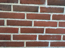 Wall of the red bricks. The wall of the red bricks as background, texture Stock Image