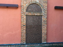 Wall of the red bricks. The wall of the red bricks as background, texture Royalty Free Stock Image