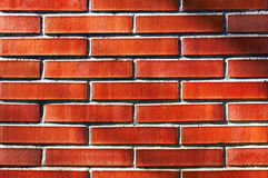Wall with red bricks Stock Photography
