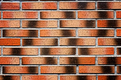 Wall with red bricks Stock Images