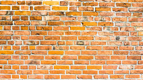 Wall of red bricks. Background Stock Photo