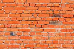Wall with red bricks Stock Image