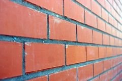 Wall of red bricks Royalty Free Stock Images