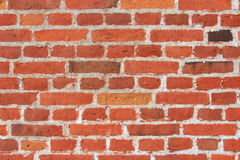 Wall of red bricks Royalty Free Stock Image