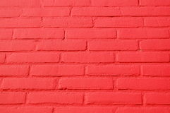 A wall with a red  bricks texture  Stock Image