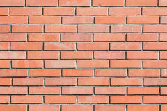 Wall of red bricks texture background Stock Photos