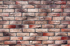Wall of red and Brown brick texture. Old wall of red and Brown brick texture Royalty Free Stock Photography
