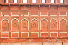 Wall, Red Fort, Agra. The Palace, Red Fort, Agra, India Stock Photography
