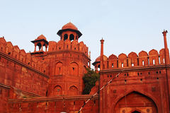 The wall of Red Fort Stock Photography