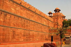 Wall of Red fort Stock Photography