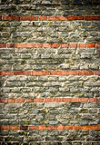 Wall with red stripes Royalty Free Stock Image