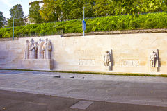 Wall of reformers in Geneva. In summer Royalty Free Stock Photo