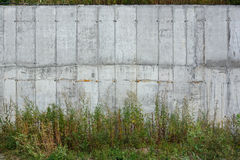 Wall of reinforced concrete Royalty Free Stock Photos