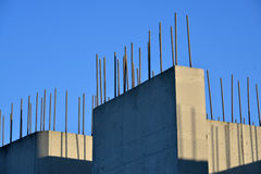 Wall of reinforced concrete. During construction royalty free stock image