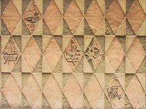 Wall relief Royalty Free Stock Images