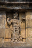 Wall relief closeup, Borobudur temple, Java, Indonesia Royalty Free Stock Photography