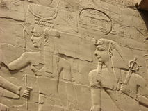 Wall Relief at Karnak Temple, Luxor, Egypt stock photography