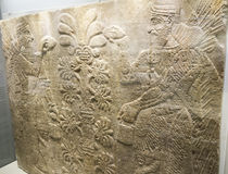 Wall relief of Nimron in Israel Museum Stock Photo